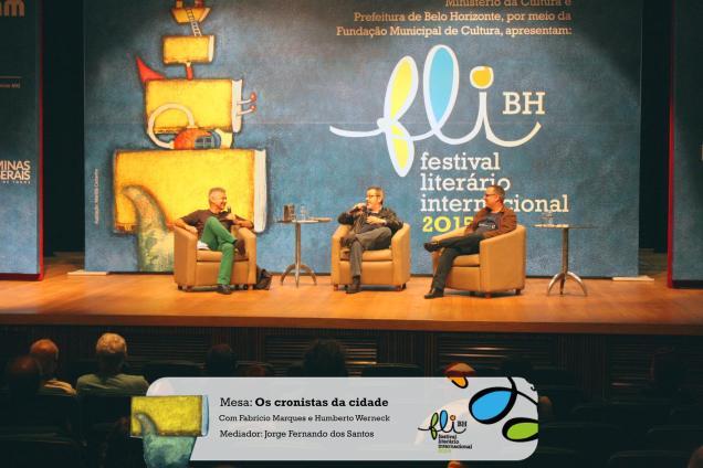Manhã deste sábado, 26 de junho de 2015. Conversa com o Humberto Werneck sobre os cronistas da cidade. Crédito da foto: FLI-BH / Divulgação