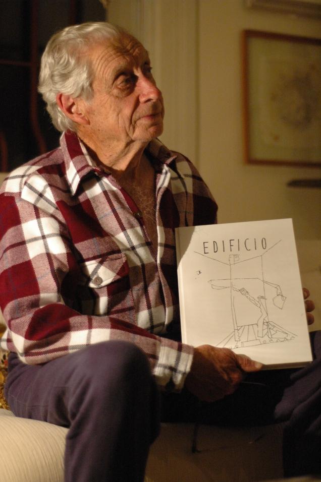 José Bento Teixeira de Sallles, em sua casa, em 2006. Crédito: Henrique Lisboa Carneiro e Dandan Gallagher